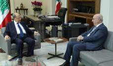 الرئيس عون أجرى مع قرطباوي جولة أفق تناولت الأوضاع العامة بالبلد والوضع القضائي