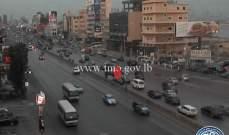 التحكم المروري: حادث تصادم بين مركبتين على أوتوستراد جل الديب