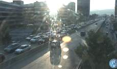 حركة المرور كثيفة من خلدة باتجاه انفاق المطار ومن اوتوستراد الرئيس الهراوي باتجاه الاشرفية
