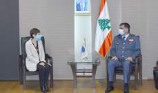 اللواء عثمان التقى ممثلة المفوّضية العليا للّاجئين في الأمم المتحدة