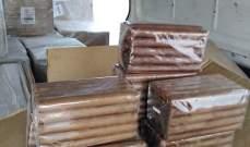 الجمارك ضبط 22 كرتونة سيجار و30 صندوق دخان مهربة من سوريا