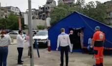 عناصر من مؤسسة معروف سعد يشاركون بحملة وزارة الصحة في صيدا
