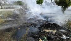 النشرة: إخماد حريق أعشاب يابسة قرب مدرسة في صيدا