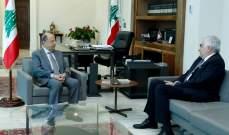 الرئيس عون عون اطلع من حتي على الحركة الدبلوماسية التي يقوم بها لبنان للتمديد لليونفيل