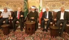 دريان التقى وفدا من الجبهة الديمقراطية لتحرير فلسطين