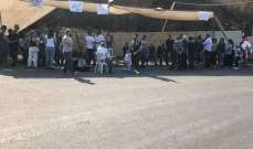 اعتصام لأهالي المتن الأعلى على طريق رويسة البلوط والعبادية