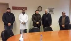 """وفد من """"حزب الله"""" يزور مستشفى صيدا الحكومي: لتأمين النقص الحاصل بالمواد المطلوبة"""