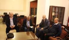 سعد استقبل ثلاثة وفود وبحث معهم الاوضاع المالية والاقتصادية