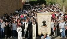 مسيرة صلاة وتأمل في حياة القديس شربل ضمن احتفالات بلدة بقاعكفرا في يومها الرابع