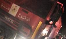 إخماد حريق أتى على 4 خيم داخل مخيم للنازحين السوريين بمجدل عنجر والأضرار مادية