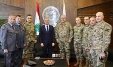 بوصعب التقى رئيس أركان الجيش على رأس وفد بالإضافة الى محافظ بيروت