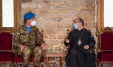 جولة لقائد القطاع الغربي لليونيفيل على المرجعيات الدينية في صور