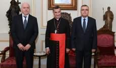 الراعي التقى نائب سابق بالبرلمان الفرنسي وكوبيش ورئيس مجلس القضاء الأعلى وشخصيات اخرى