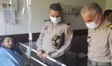 """قائد الجيش الإيراني يتفقد مصابي حادث سفينة """"كنارك"""""""