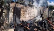 النشرة: اخماد حريق غرفة سكن داخل بستان خلف محطة الصهيوني في حي القناية - صيدا
