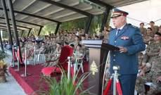 إقامة حفل تقديم رقباء وجنود متمرنين ومجندين ممددة خدماتهم إلى العلم