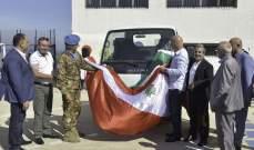 قائد القطاع الغربي لليونيفيل قدم هبة إيطالية لبلدية برج رحّال