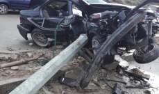 سقوط قتيل وجريح في حادث سير على أوتوستراد القلمون