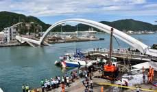12 جريحا وستة مفقودين اثر انهيار جسر في تايوان