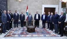 الرئيس عون دعا المقاولين الى المشاركة في عملية مكافحة الفساد والرشوة
