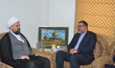 أحمد قبلان التقى القائم بالاعمال في سفارة ايران وبحث معه سبل التعاون
