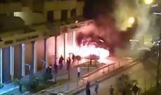مجهول اطلق النار على سيارة في طرابلس مما ادى الى اشتعالها