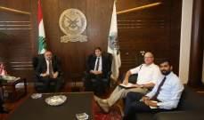 بو صعب التقى رئيس البعثة البريطانيَّة في لبنان وغسان بن جدُّو