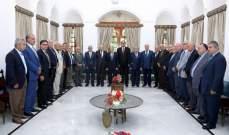 الرئيس عون مستقبلا الوفود في بيت الدين: بعد الاستقرار الامني والسياسي جاء دور الاستقرار الاقتصادي