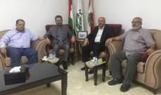 ممثل حركة حماس في لبنان يستقبل وفداً من حركة الجهاد الإسلامي في فلسطين