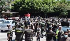 عناصر الدفاع المدني اقفلوا الطريق في الصيفي والمدينة الرياضية وطلبوا مقابلة وزير الداخلية
