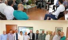 """سقلاوي عرض مشاريع """"الريجي"""" مع وفود من عدة بلدات"""