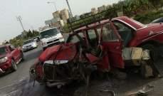 اللدفاع المدني: جريح جراء حادث سير على طريق عام الناقورة - صور
