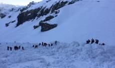 مقتل أربعة متزلجين من المانيا في انهيار ثلجي في سويسرا