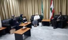 عماد الحوت التقى وفد المرأة الفلسطينية في الخارج