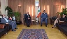 عثمان إستقبل مفتي بعلبك - الهرمل ورئيس الجامعة اللبنانية الاميركية