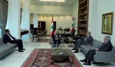 إرسلان التقى الرئيس عون في قصر بعبدا بحضور مشرفية والغريب