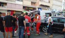 النشرة: جريح في حادث صدم على طريق تعمير حارة صيدا