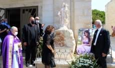 بلدة بيصور أحيت ذكرى أربعين الشهيدة جرمانوس التي قضت بانفجار المرفأ