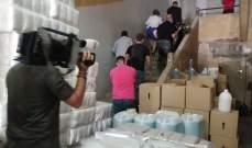 وزير الصحة دهم أحد مستودعات المواد الطبية وكواشف المختبرات في بيروت