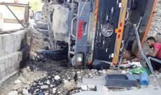 النشرة: قتيل في حادث انقلاب شاحنة كبيرة في منطقة الفوار