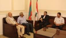 اسامة سعد التقى شريعتمدار في زيارة وداعية