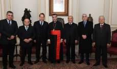 وفد من رابطة النواب السابقين التقى الراعي: من يعنيه لبنان فعلا لا يعيث الخراب والدمار في قلبه