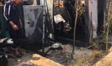 إخماد حريق في غرفة مولد كهربائي داخل مدرسة في إيعات