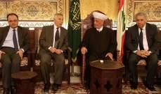 المفتي دريان التقى عضو لجنة منظمة التحرير الفلسطينية والسفير الفلسطيني