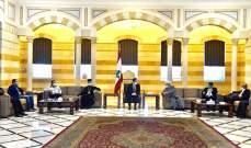 دياب استقبل وفد اللجنة الإصلاحية في اتحاد بلديات قلعة الاستقلال