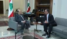 الرئيس عون اطلع من الشوابكة على عمل الاتحاد البرلماني العربي تجاه القضايا العربية