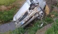 """""""النشرة"""": اصابة امرأة جراء حادث سير على طريق تعنايل"""