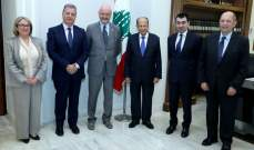 الرئيس عون استقبل بحضور ابي خليل وفداً وزارياً فرنسياً