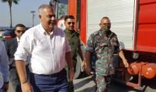 النشرة: محافظ بيروت زار سرية إطفاء بلدية صيدا وتفقد معداتها