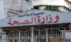 الصحة السورية: تسجيل 3 إصابات جديدة بكورونا ليرتفع عدد الحالات المسجلة إلى 19